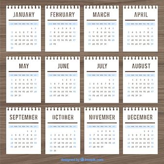Шаблон календаря в стиле блокнот