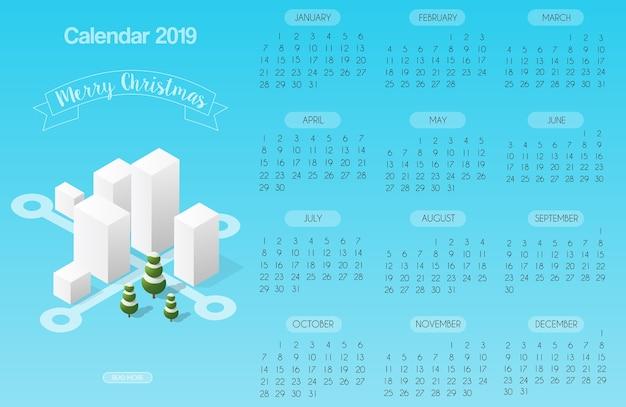Calendar template with