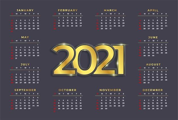 Calendar for week starts monday. simple design template