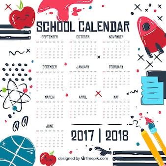 Calendario con disegni di soggetti