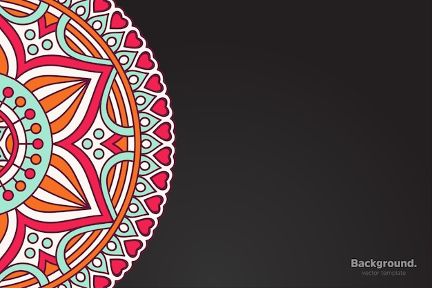 Calendar with mandalas dark style ornament