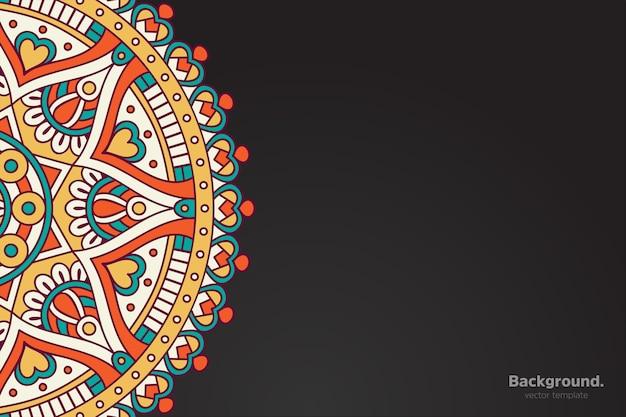 Calendario con mandala stile scuro ornamento
