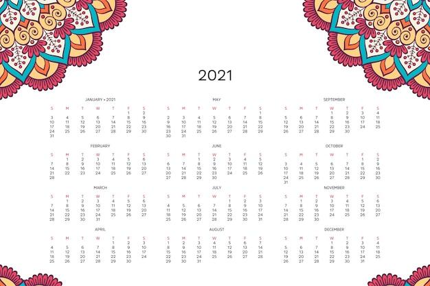 Calendar with mandalas.