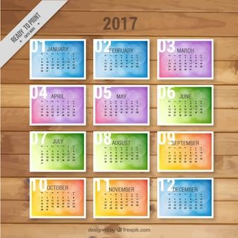 Calendario con mesi su schede