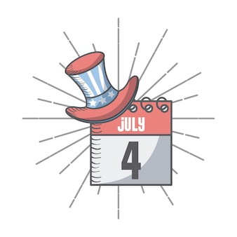Calendar with top hat icon