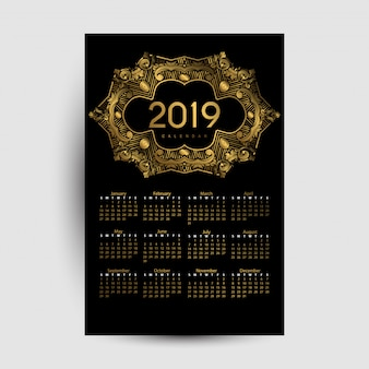 Calender 2019 luxury