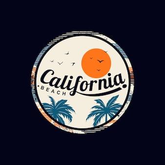 캘리포니아 해변 프리미엄 벡터