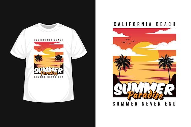 California beach summer paradise t shirt  design