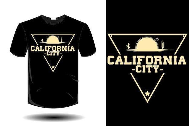 カリフォルニアシティモックアップレトロヴィンテージデザイン