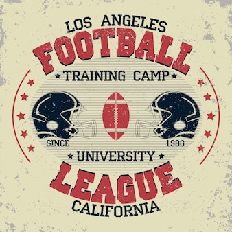 California football typography, t-shirt stamp graphics, vintage sport wear tee print design