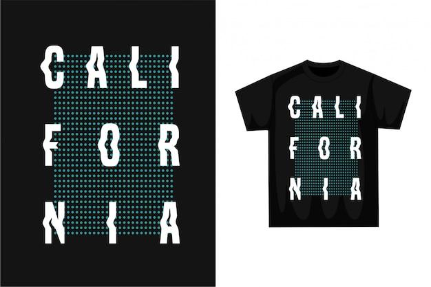 カリフォルニア-グラフィックtシャツ
