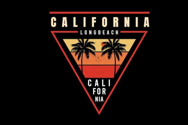 캘리포니아 롱 비치 색상 노란색과 주황색