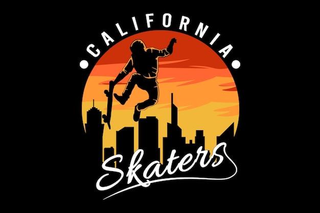 カリフォルニアスケーターイラストtシャツデザイン