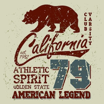California sport typography, university athletic dept.