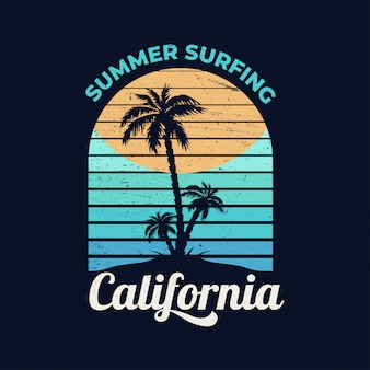 California. summer surfing.