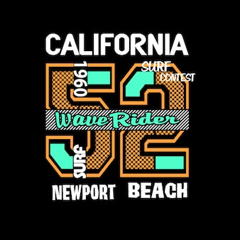 California t shirt graphic vector