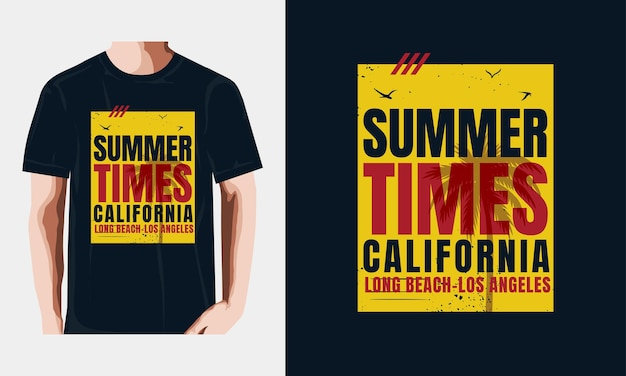 캘리포니아 여름 시간 타이포그래피 디자인