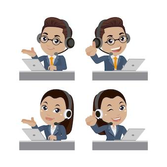 콜센터 및 고객 서비스 캐릭터
