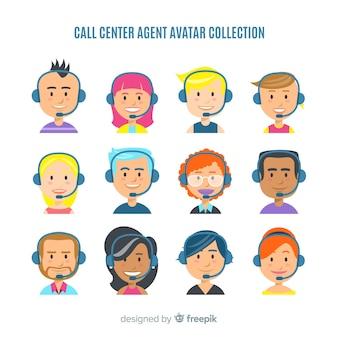 Call center avatar collection