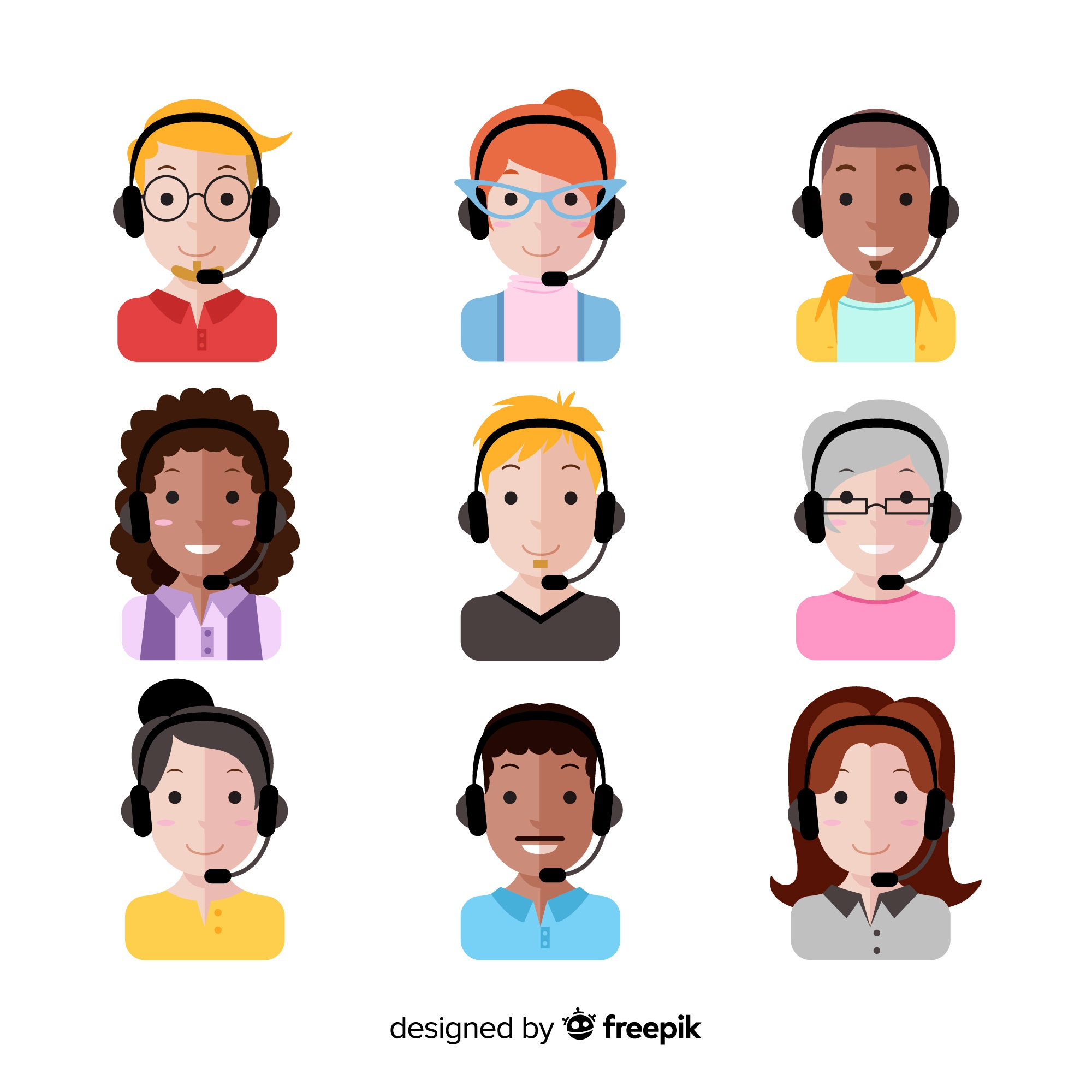 Call center avatar pack