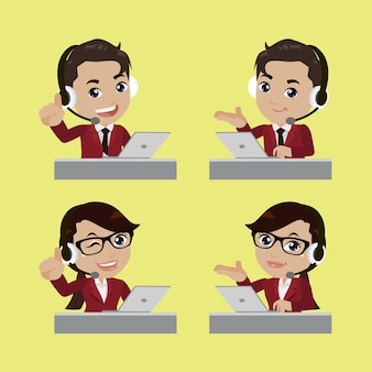 Call center and customer service character