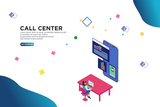 Call center isometric