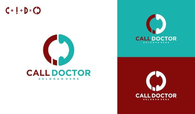 Call the doctor, medical logo online, virtual services logo design.