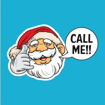 Call me santa claus illustration