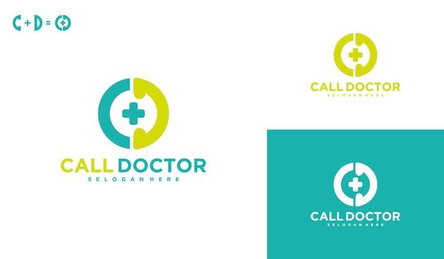 医師に電話して、医療ロゴをオンラインで、仮想サービスのロゴデザインを作成してください。