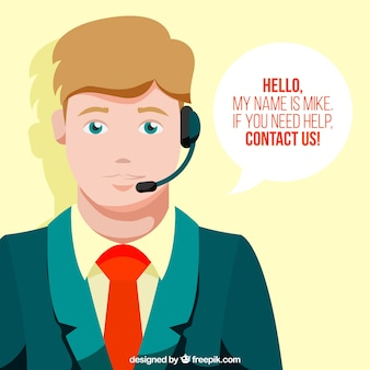 Callcenter boy background