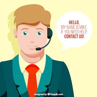 Callcenter мальчик фон