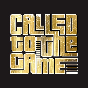 Called to the game text vector