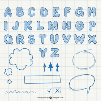 Каллиграфические буквы алфавита
