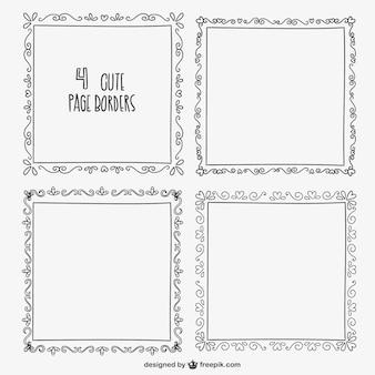 Calligraphic borders pack