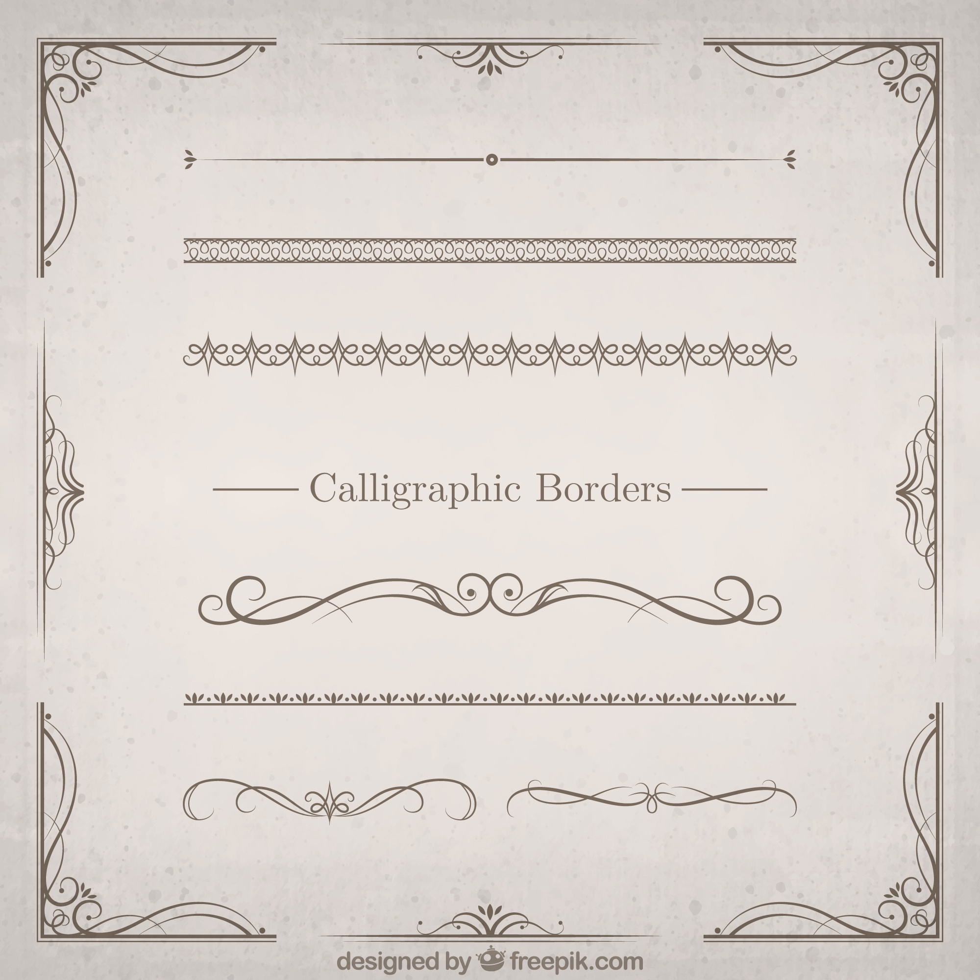 Calligraphic Borders Set