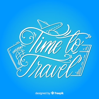 Calligraphic caligráfico travel background