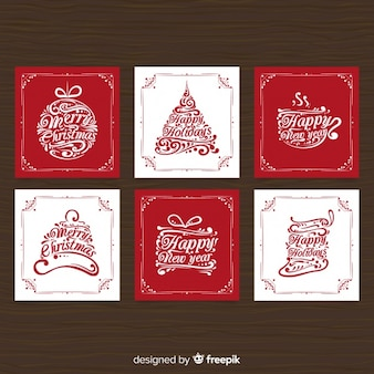 Calligraphic christmas card collection
