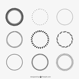 Calligraphic circles