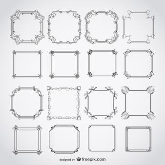 Calligraphic deco frames