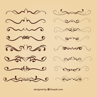 Calligraphic dividers collection