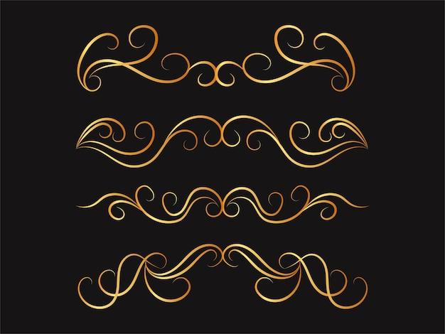 Набор каллиграфических разделителей