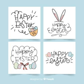 Calligraphic easter card collection