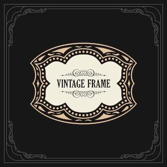 Calligraphic elegant ornament frame