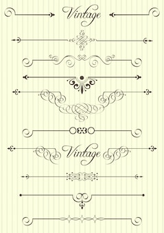Calligraphic elements and page decor