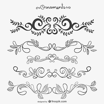Calligraphic floral ornaments