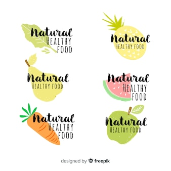 Calligraphic fresh food label pack