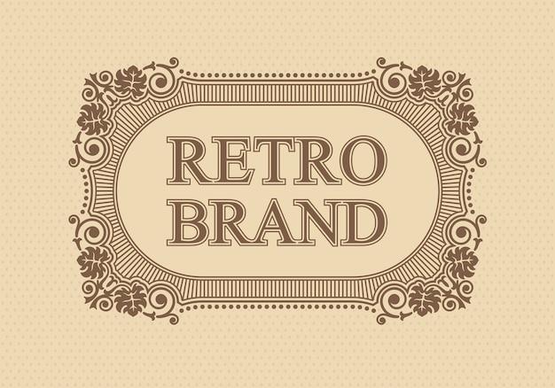 Каллиграфический изящный шаблон, элементы дизайна вензеля ретро бренда,