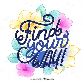 Calligraphic hand drawn floral background