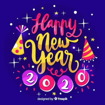 Calligraphic happy new year 2020