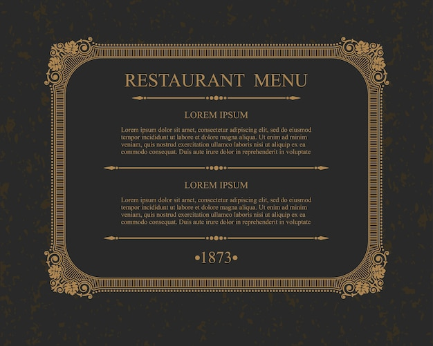 Каллиграфическое меню ресторана типографские элементы дизайна, каллиграфический шаблон.